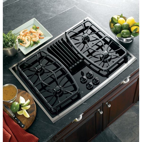 Ge Profile Pgp989snss 30 Inch Gas Downdraft Cooktop Overstock 9913090