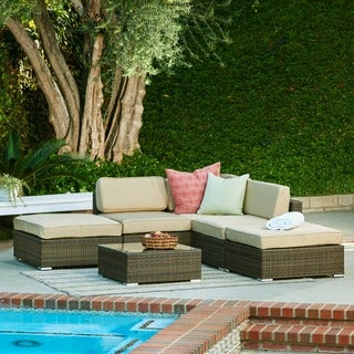 the-Hom Barton 6-piece Brown Patio Set