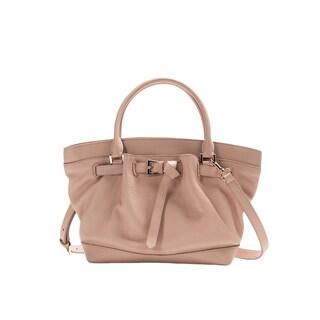 Wa Obi 'Maria' Pink Cowhide Leather Bucket Bag