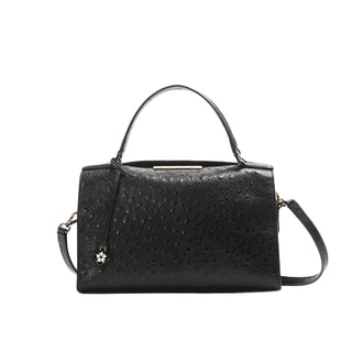 Wa Obi 'Sydney' Black Cowhide Leather Satchel