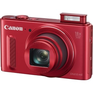Canon PowerShot SX610 HS 20.2 Megapixel Compact Camera - Red