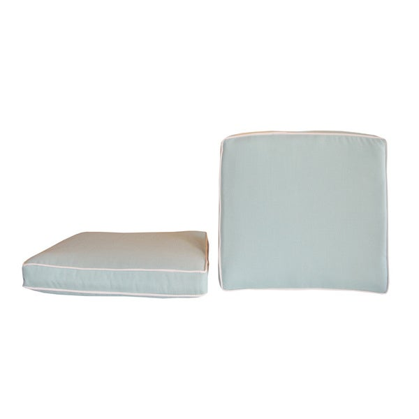 Sunbrella Designer Coordinated Double Piping Seat Cushions Set Of 2 Free Shipping Today Overstock Com 17071283