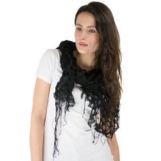 Le Nom Knit Net Lace Scarf And Shawl