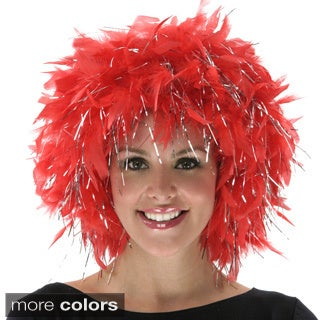 Chandelle Feather Wig with Silver Lurex