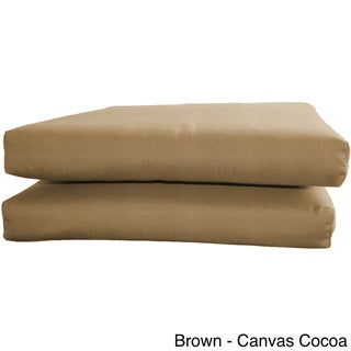 Sunbrella Designer Knife Edge Seat Cushions (Set of 2)