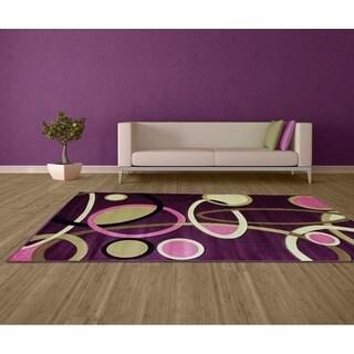 LYKE Home Isabela 8654 Lilac/ Multi Area Rug (8' x 11')