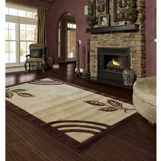 LYKE Home Isabela Brown/ Beige Area Rug (8' x 11')