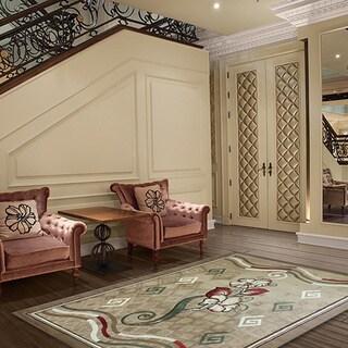 LYKE Home Isabela Gold/ Beige Area Rug