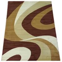 LYKE Home Prism Beige/ Brown Area Rug