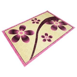 LYKE HomeRosalie Pink/ Beige Area Rug (4' x 6')