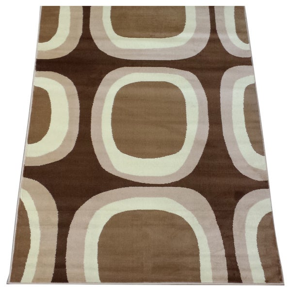 LYKE Home Prism Beige/ Brown Area Rug - 8' x 10'