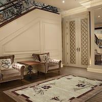 LYKE Home Audrey Cream/ Beige Area rug (5' x 8') - 5' x 8'