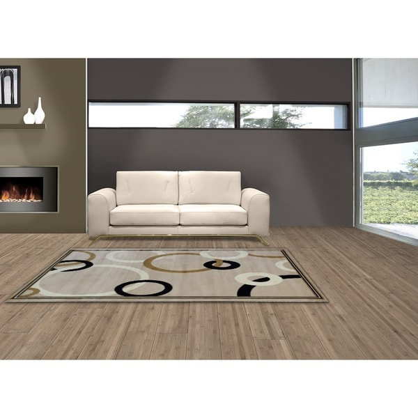 LYKE Home Audrey Cream/ Beige Area Rug (8' x 11')