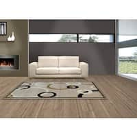 LYKE Home Audrey Cream/ Beige Area Rug