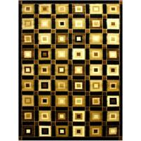 LYKE Home Prism Brown/ Beige Area Rug - 5' x 8'
