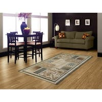 LYKE Home McKayla Green/ Beige Area Rug