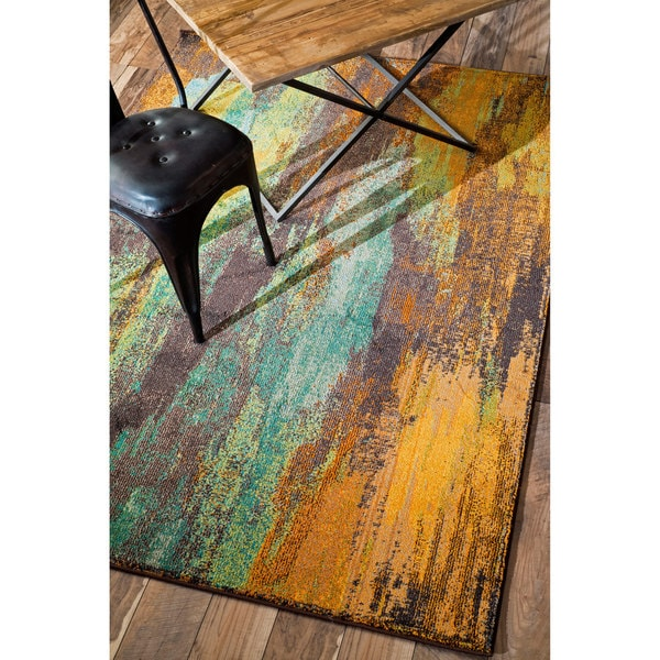 Nuloom Modern Abstract Painting Multi Rug 5 3 X 7 7
