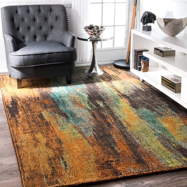 Shop Nuloom Modern Abstract Painting Multi Rug 5 3 X 7 7