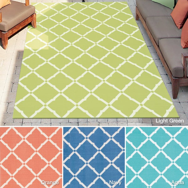 Shop Rug Squared Palmetto Lattice Indoor Outdoor Area Rug