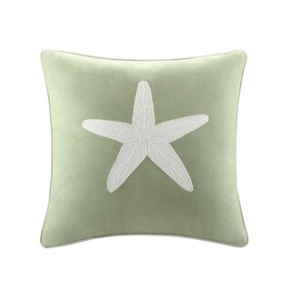 Harbor House Brisbane Cotton Embroideried Square Throw Pillow