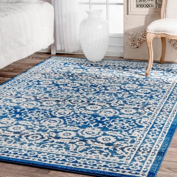 nuLOOM Traditional Persian Vintage Dark Blue Rug (5'3 x 7'9)