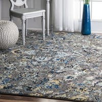 nuLOOM Modern Abstract Vintage Area Rug (8' x 10') - 8' x 10'
