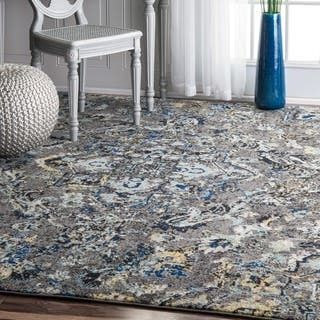 Nuloom Modern Abstract Vintage Area Rug 8 X 10