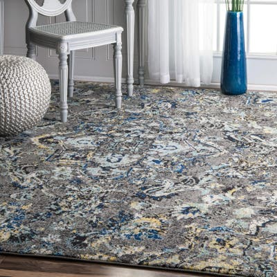 Paisley Stain Resistant Area Rugs
