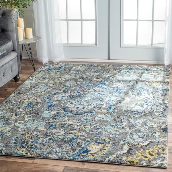 Nuloom Modern Abstract Vintage Multi Area Rug 8 X 10