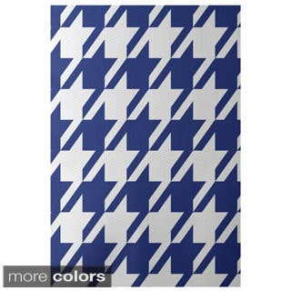 Decorative Houndstooth Pattern Area Rug (4' x 6')