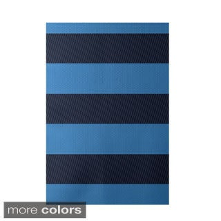 Decorative Contrasting Stripe Pattern Area Rug (2' x 3')