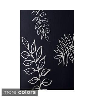Decorative Simple Floral Leaf Pattern Area Rug (2' x 3')