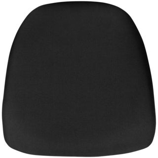 Offex Hard Black Fabric Chiavari Chair Cushion