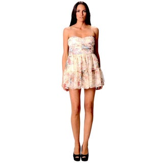 Sara Boo Women's Floral Print Ruffled Mini Dress