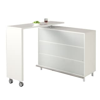 Christopher Knight Home Johnston All White L-Board Extendable Bar