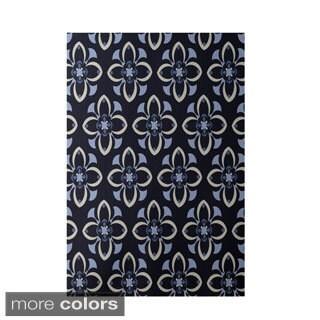Decorative Geometric Floral Pattern Area Rug (2' x 3')
