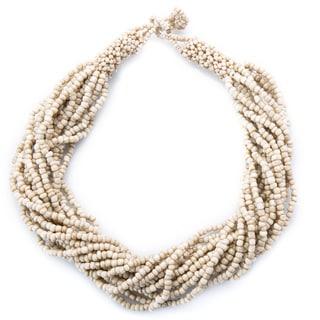 Kele & Co Bold 'Sanibel' Glass Bead 18-inch Necklace