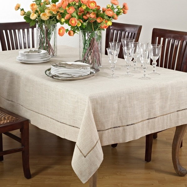 Toscana Linen Blend Tablecloth Free Shipping Today 9913747