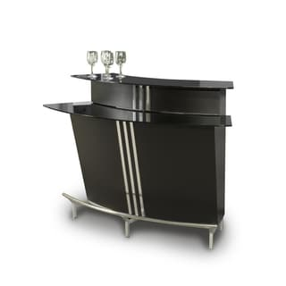 Christopher Knight Home Boulevard Black Glass Table Top Bar