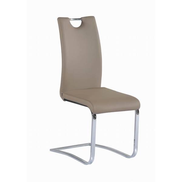 Somette Jocelyn Taupe Handle Back Dining Chair (Set of 4)