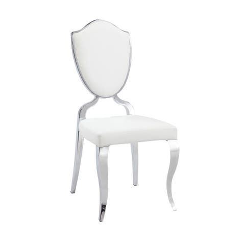 Somette Lexie White Shield Back Dining Chair (Set of 2)