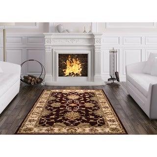 Handmade Isfahan Design Wool Rug (India) - 5' x 8'