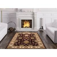 Herat Oriental Indo Hand-tufted Persian Isfahan Design Wool Rug (5' x 8')