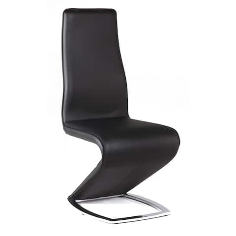 Somette Tamra Black 'Z' Style Dining Chair (Set of 2)
