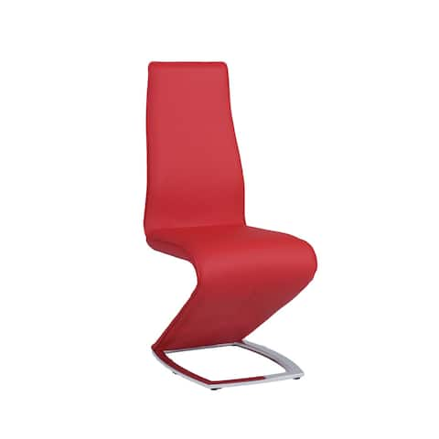Somette Tamra Red 'Z' Style Dining Chair (Set of 2)
