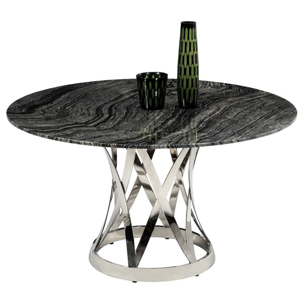 Shop Christopher Knight Home Jayda Grey Ancient Wood Grain Marble - Grey marble top dining table