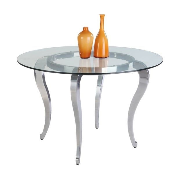Shop christopher knight home lexie 48 inch glass dining table christopher knight home lexie 48 inch glass dining table silver watchthetrailerfo