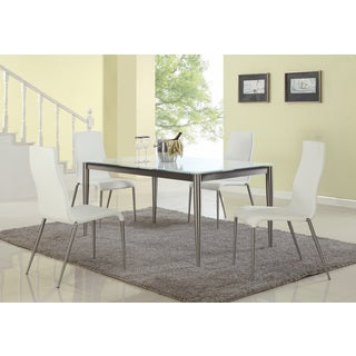 Christopher Knight Home Reina White Starphire Glass Dining Table