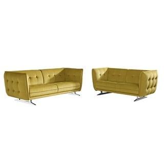 Lucas Fabric 2-piece Sofa and Loveseat Set