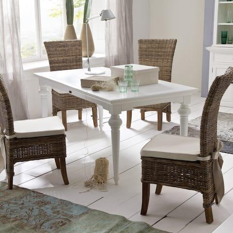 The Gray Barn Fox Hollow White Mahogany Dining Table - 70,87 x 35,43 x 29,92